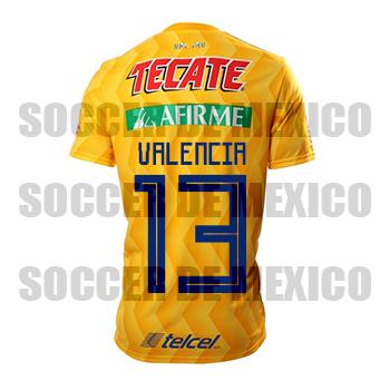 hot sale online 9753b 0bd1a Jersey Tigres 2018/19 adidas Home Valencia Jersey soccer ...