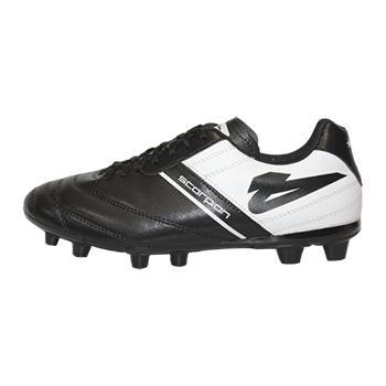 9daaf59ff6940 Zapatos Soccer Olmeca Scorpion Negro Blanco Zapatos Soccer Olmeca ...
