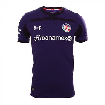 060c5556fcc Jersey Toluca Under Armour third 2018/19 cuatomize with the official name  and number.